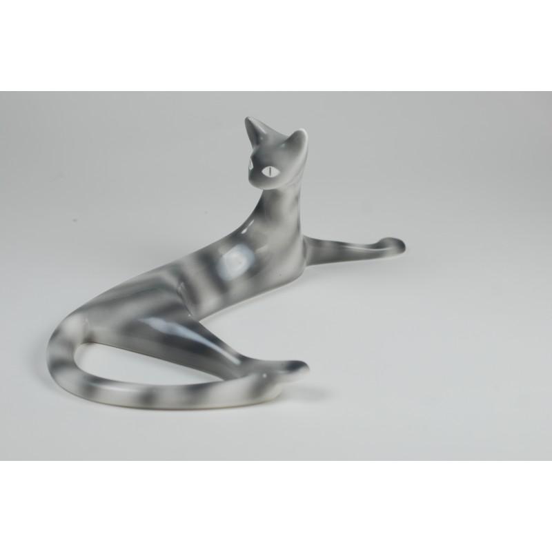 c998cb5af3005 Leżąca kotka - Fabryka Porcelany AS Ćmielów