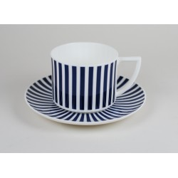 AMELIA cup with cobalt stripes