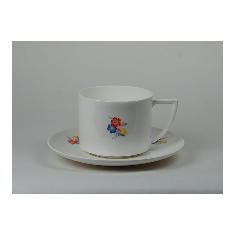 Filiżanka Amelia Dekoracja Kwiaty Art Deco Fabryka Porcelany As ćmielów