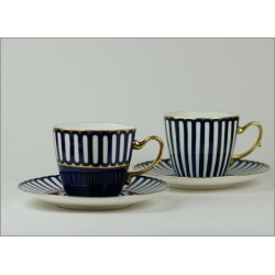 Filiżanka ANNA MARIA kawa/herbata - kobalt ze złotem (ręcznie malowana)
