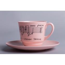 Filiżanka Włodek Pawlik (różowa porcelana)