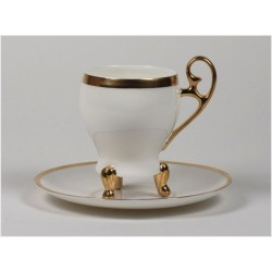 Filiżanka Wiedeńska kawa - złoty pasek