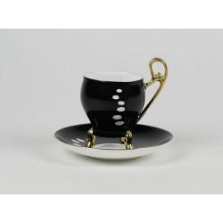 Filiżanka Wiedeńska espresso - kolor ze złotem