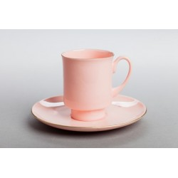 LONDON cup with gold (pink porcelain)