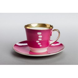 June cup - colour with gold (brushed)
