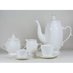 Serwis Anna Maria  do kawy/herbaty - dekoracja złoty pasek
