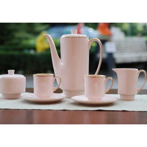 Serwis LONDON - dekoracja pasek (różowa porcelana)