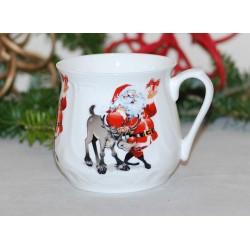 Silesian mug - Santa with reindeer