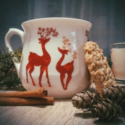 Silesian mug - decoration Pair of reindeers