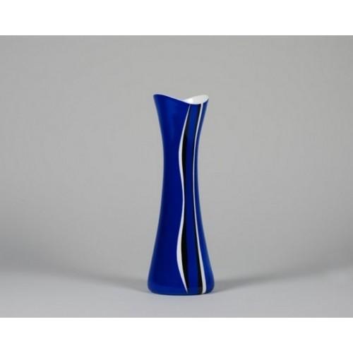 Cube vase blue