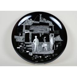 """Decorative plate """"Cafeteria"""" no. 2"""