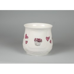 Silesian mug - decoration Pink Lilac