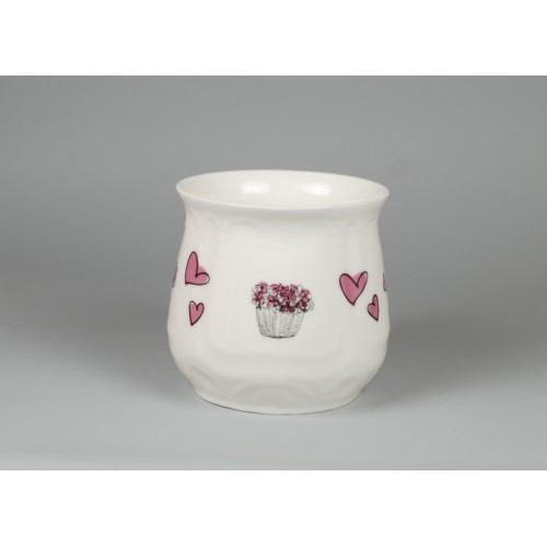 Silesian mug - decoration Pink Lilac