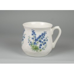 Silesian mug - decoration Forget-me-not