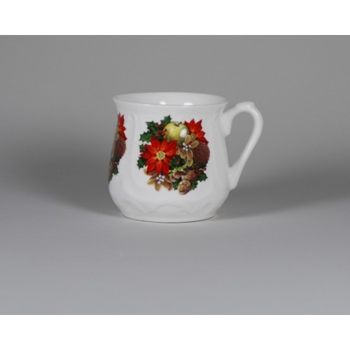 Silesian mug - decoration Christmas wreath
