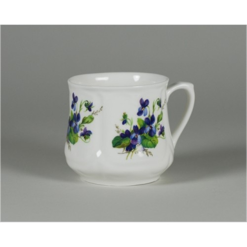 Silesian mug (small) - decoration violets