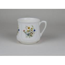 Kubek śląski (mały) - dekoracja kwiaty polne z kaczeńcami