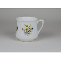 Silesian mug (small) - decoration wild flowers with cowslipsi
