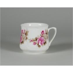 Silesian mug (small) - decoration grey roses