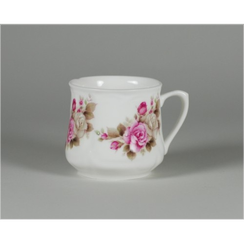 Silesian mug (small) - decoration grey roses