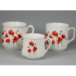 Silesian mug - decoration Poppies meadow
