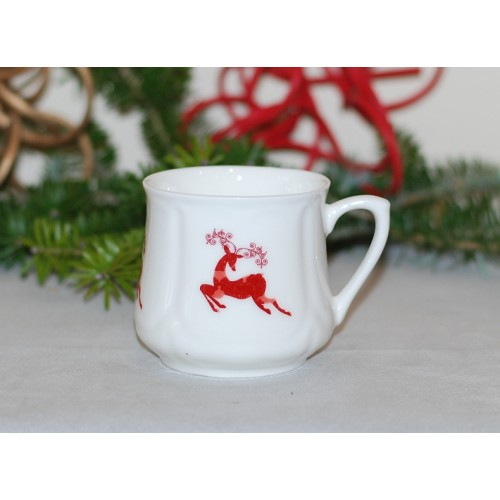 Silesian mug (small) - decoration Crossing Reindeer