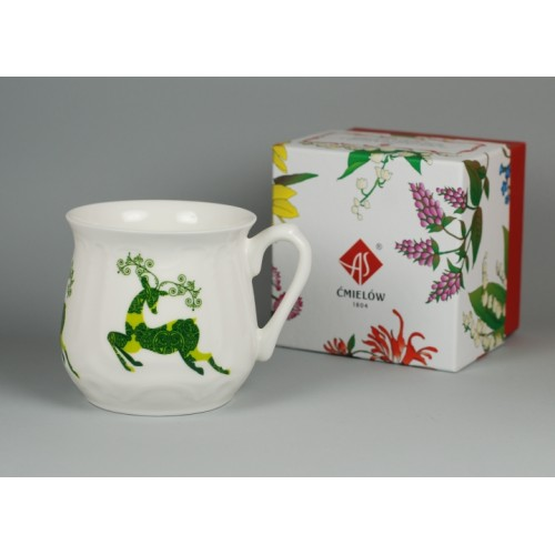 Silesian mug - decoration Reindeer