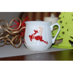 Silesian mug (small) - decoration Reindeer