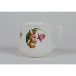 Silesian mug (small) - decoration Bunny with campanula