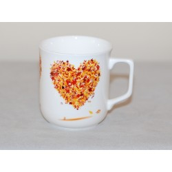 Cmielow mug - decoration Hart four Seasons - Autumn