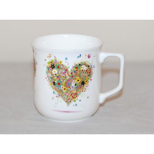 Cmielow mug - decoration Hart four Seasons - Summer