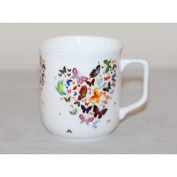 Kubek Ćmielowski - dekoracja Serce z motyli