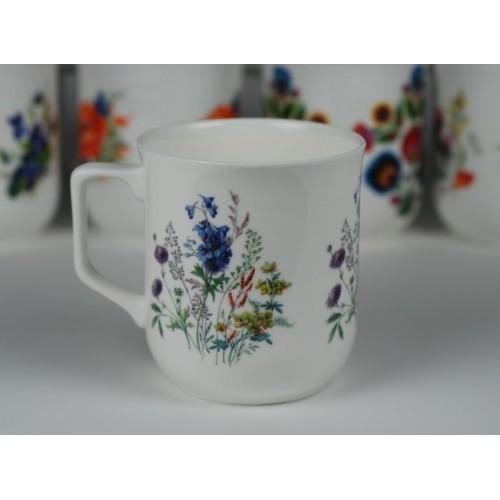 Kubek Ćmielowski - dekoracja kwiaty polne z dzwoneczkami