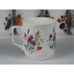 Kubek Ćmielowski - dekoracja kwiaty polne z koniczyną
