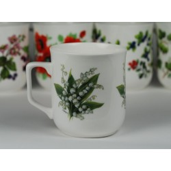 Cmielow mug - decoration lilies of the valey