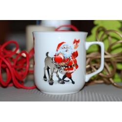 Kubek Ćmielowski - dekoracja Mikołaj z reniferem