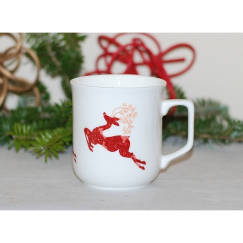 Cmielow mug - decoration Crossing reindeer