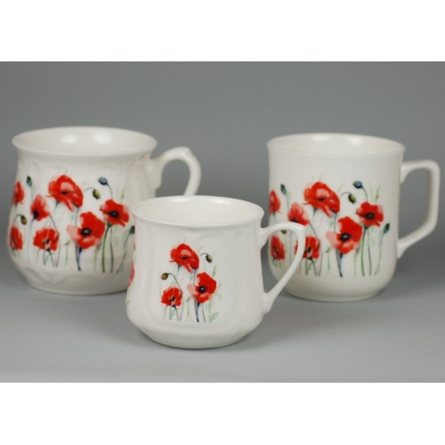 Cmielow mug - decoration Poppies meadow