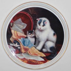 "Decorative plate ""Cats - overturned basket"""
