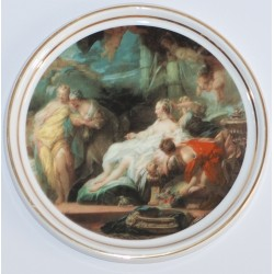 "Decorative plate ""Psyche shows sisters gifts from Cupid"""