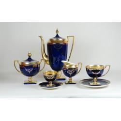 Serwis MATYLDA - dekoracja kobaltowo-złota