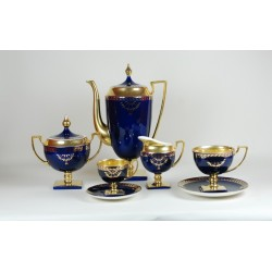 Tea set MATYLDA - cobalt with gold