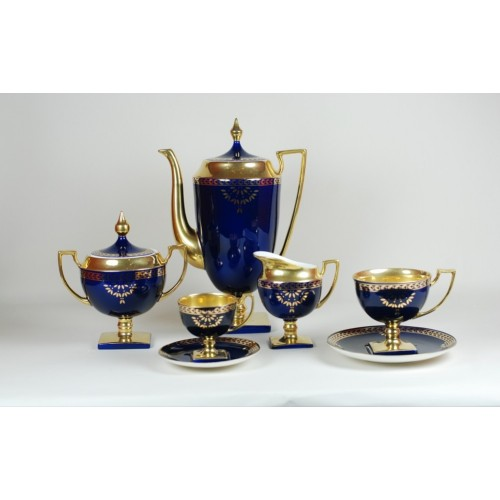 MATYLDA set - cobalt with gold