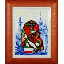 "Porcelain painting ""Polish Monkey"""