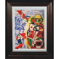 """Porcelain painting """"Albanian Monkey"""""""