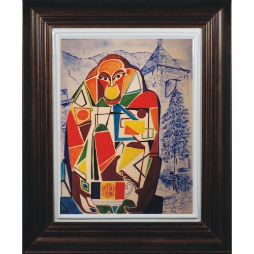 "Porcelain painting ""Andorran Monkey"""