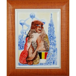 "Porcelain painting ""Belgian Monkey"""
