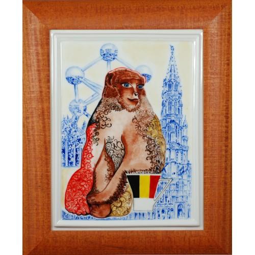"""Obraz porcelanowy"""" Małpa Belgijska"""""""