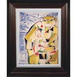 "Porcelain painting ""Belgian Monkey"""