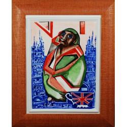 """Obraz porcelanowy"""" Małpa Brytyjska"""""""